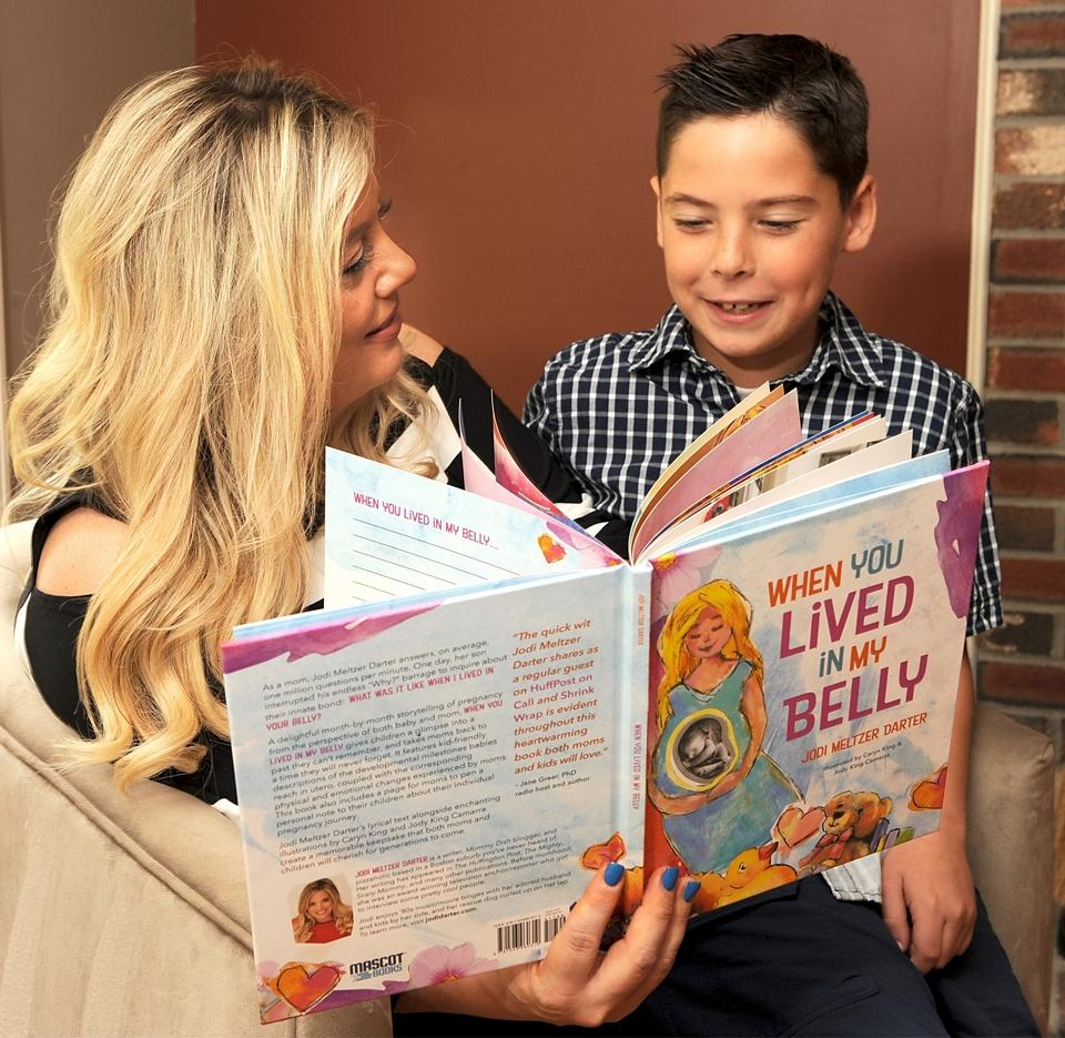 When You Lived In My belly - Jodi Meltzer Darter and Her Son Reading